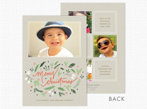 """Merry Christmas"" Flat Photo Cards"